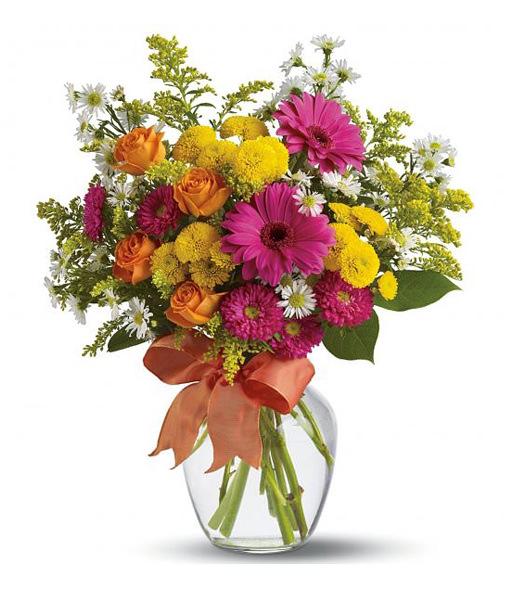 bouquet-gerbere-rose-margherite