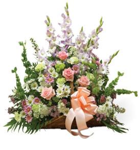 cesto-lutto-rose-rosa-lilium-bianchi