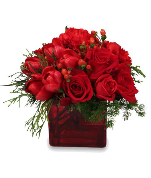 bouquet-natalizio-con-rose-e-tulipani