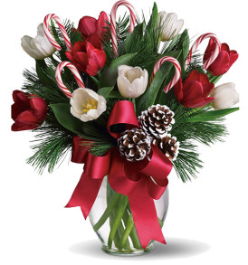 bouquet-natalizio-con-tulipani-bianchi-e-rossi