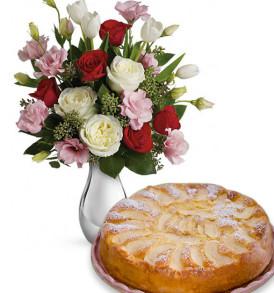 bouquet-di-roselline-con-torta-di-mele
